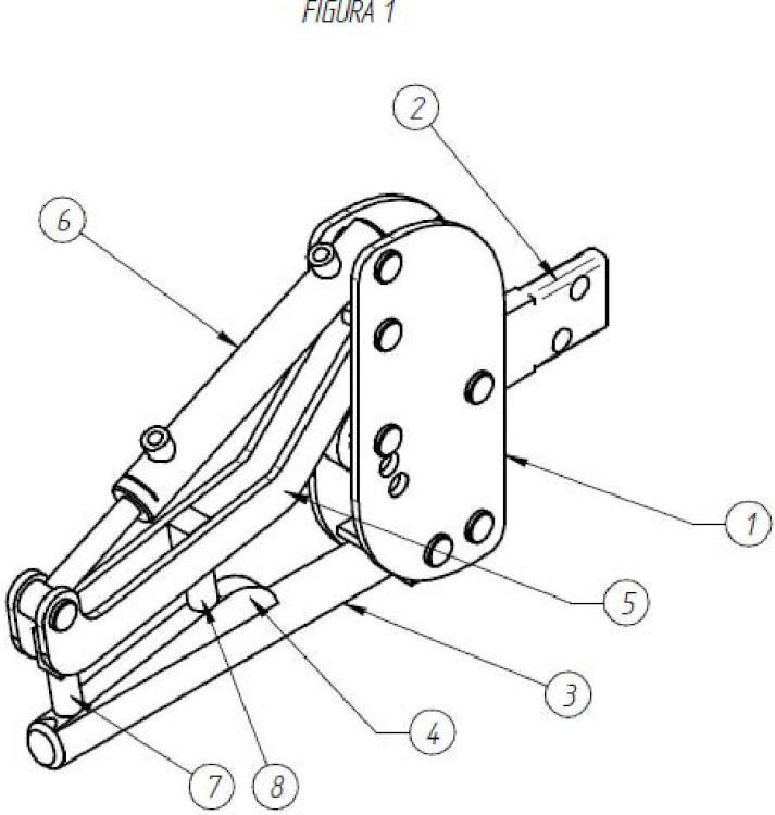 Dispositivo de pinza y aros para manipular cargas sobre mantillas.