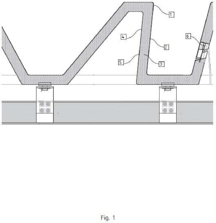Cubierta a base de tejas metálicas para cubrir grandes distancias sin apoyos verticales.