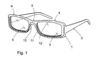 Gafas con lentes y montura intercambiables.