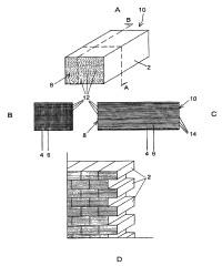 Bloque de construcción que comprende fibras de transmisión de luz y procedimiento de producción del mismo.