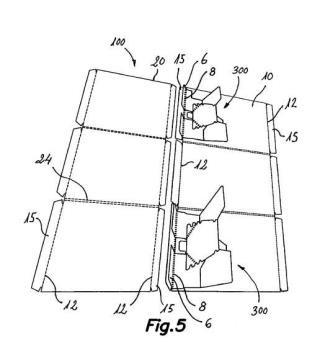 Dispositivo expansor para expositor plegable autoexpansible, y expositor plegable autoexpansible provisto de tal dispositivo expansor.