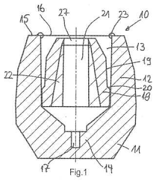 Mazarota con una pieza inferior flexible de mazarota.