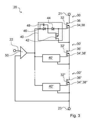 Componente de conexión, en particular, componente de conexión de aparato doméstico.