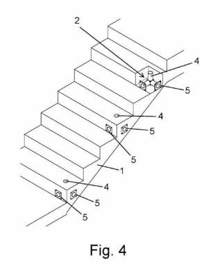 Barandilla de seguridad para forjados de plantas y escaleras de obras.