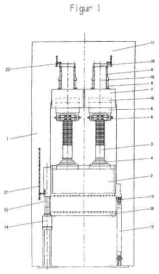 Prensa hidráulica para el procesamiento de metales y plásticos.