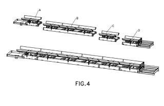 Transportador modular de banda.