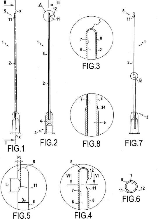 Vector de inyección de un producto en el cuerpo humano.