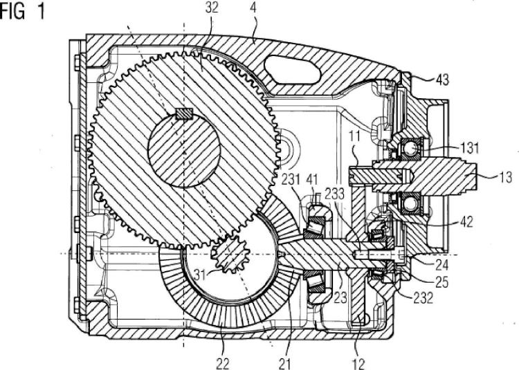 Caja de engranajes industrial.