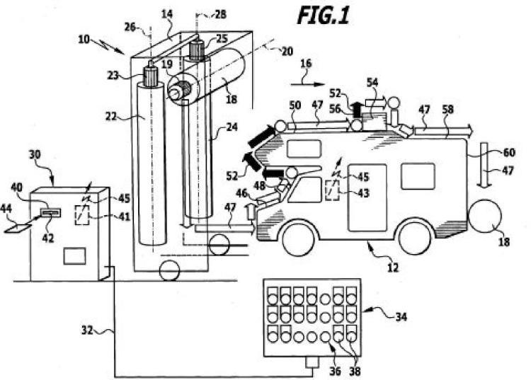 Procedimiento y dispositivo para el lavado de un vehículo.