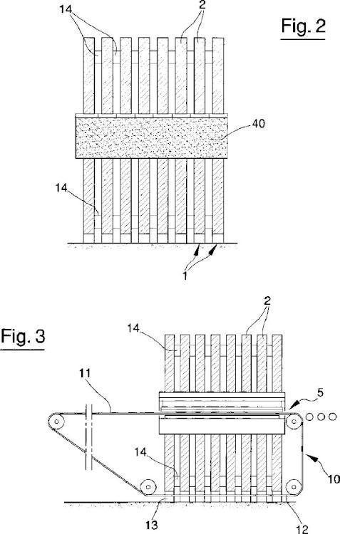 Una estructura para prensas, en particular, para formar productos cerámicos.