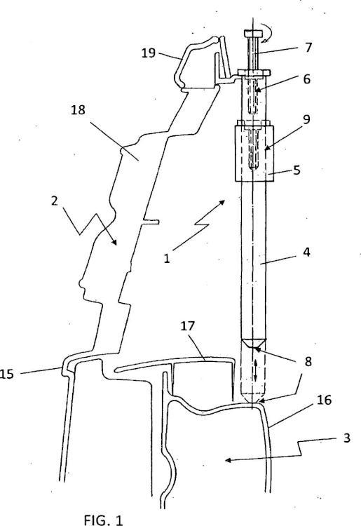 Dispositivo para el apoyo de piezas constructivas.