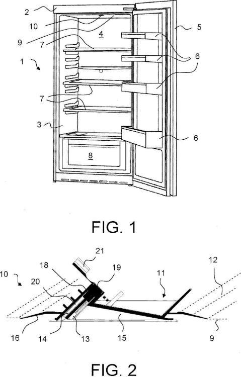 Aparato de refrigeración con una iluminación interior.