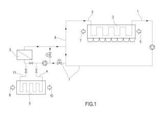 Procedimiento integrado para la generación de energía eléctrica y aparato correspondiente.