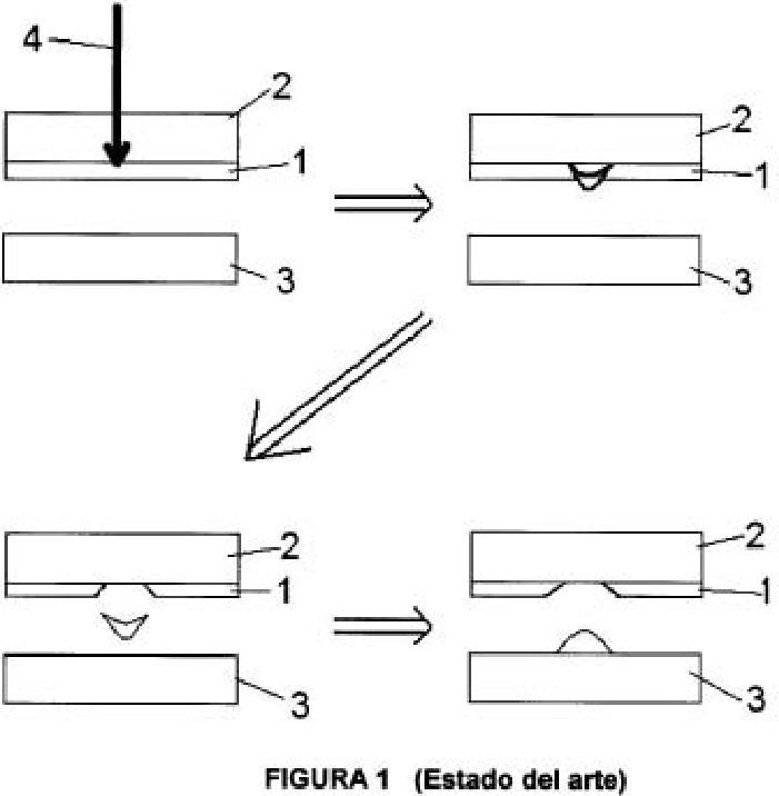 Procedimiento para la creación de contactos eléctricos y contactos así creados.
