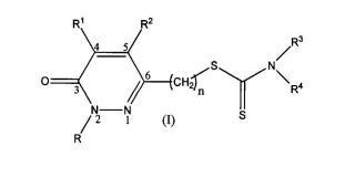 Compuestos de estructura híbrida piridazinona ditiocarbamato con actividad antineoplásica.