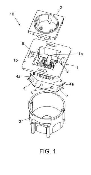 Elemento de fijación para dispositivos eléctricos y dispositivo eléctrico dotado de dicho elemento.