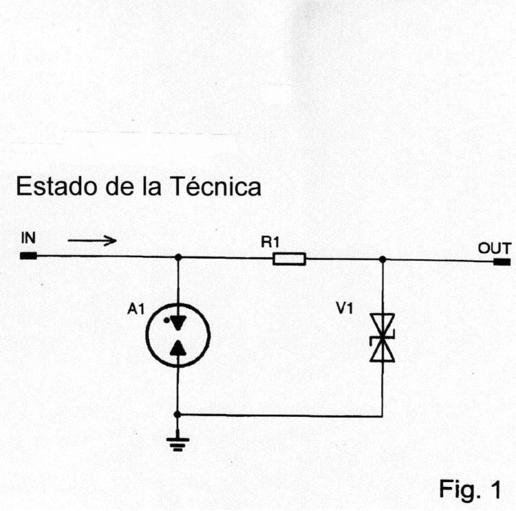 Circuito de protección contra sobretensión de múltiples etapas, en particular para instalaciones de tecnología de la información.