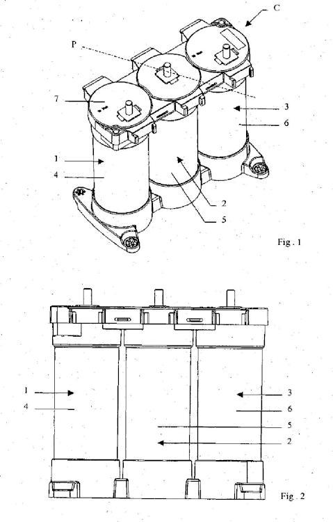 Condensador de potencia.