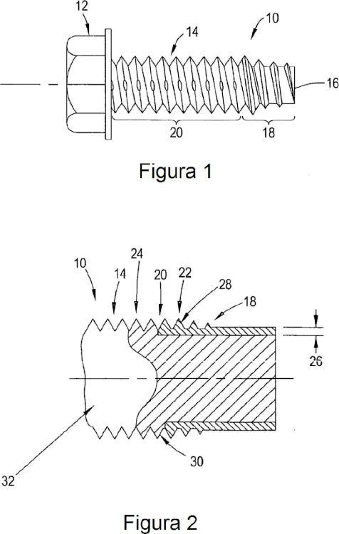 Método de formación de un tornillo autorroscante de alto rendimiento.
