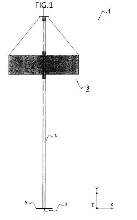 Generador eólico de eje vertical.