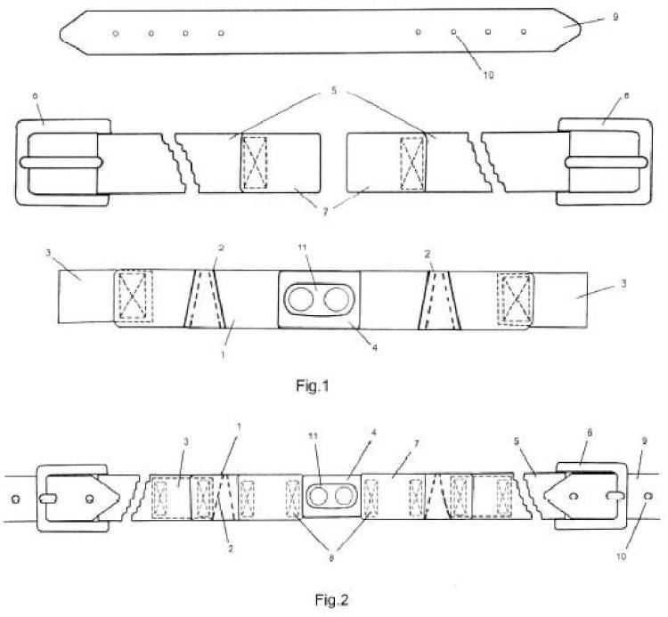 Cinturón elástico adaptable perfeccionado.