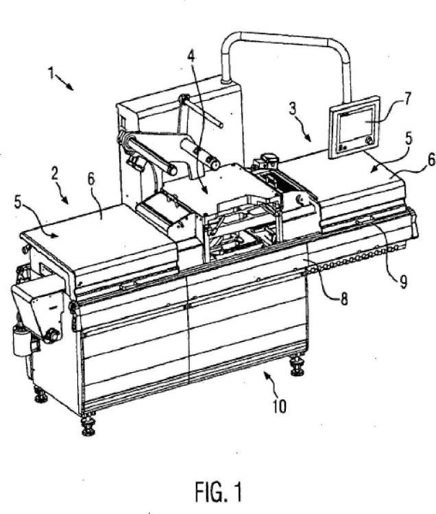 Máquina de envasado con un dispositivo de protección y procedimiento.