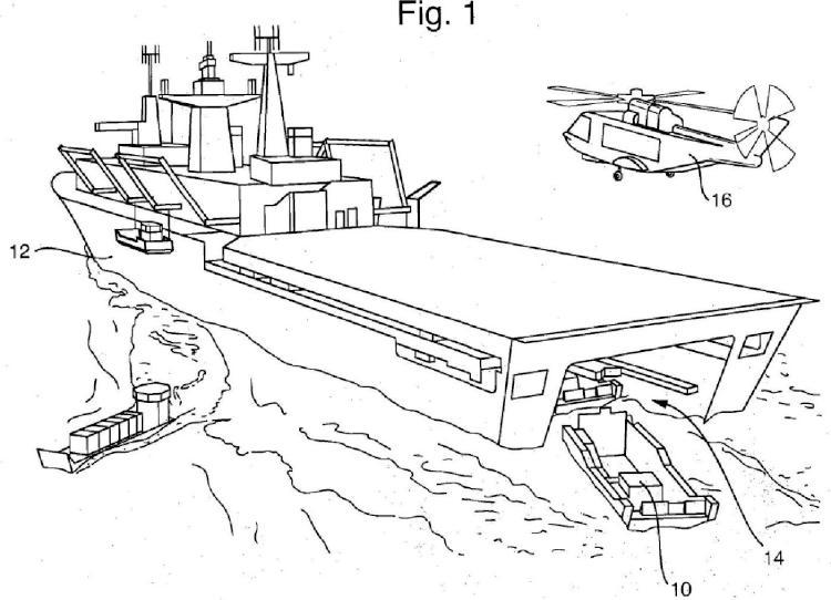 Aparato y procedimientos para el lanzamiento y la recuperación de una nave desde y hacia un barco de acogida.
