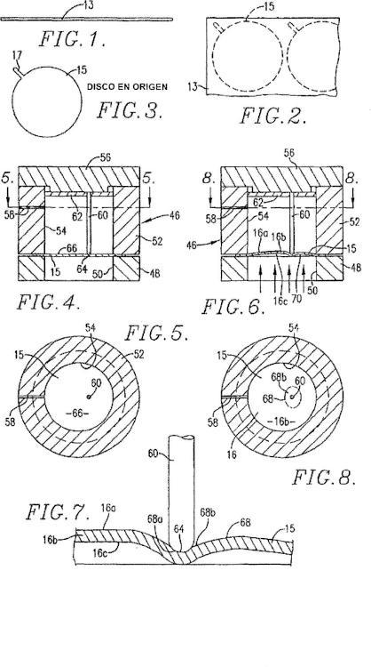 Método de formación de disco de ruptura de activación inversa con línea de debilitamiento electropulida definida por láser.