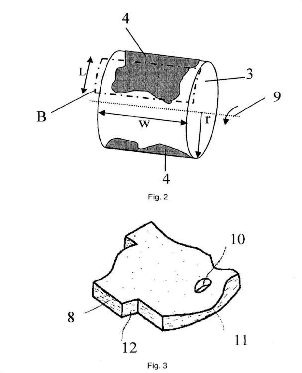 Dispositivo para moldear material fibroso.