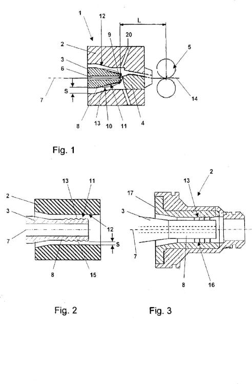Dispositivo de hilatura por chorro de aire.