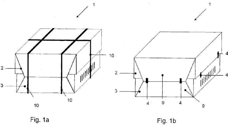 Procedimiento para fijar hojas de envoltura durante el embalaje de balas de celulosa y dispositivo de fijación.