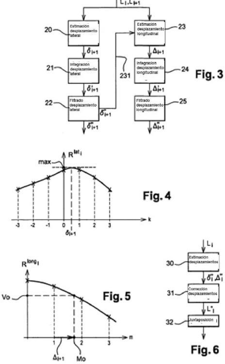 Procedimiento de estimación de desfases de imágenes de línea obtenidos por un sensor de imagen de barrido espacial o aerotransportado.