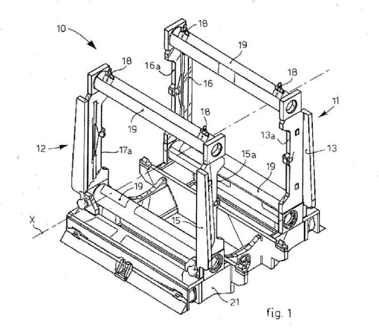Bastidor de soporte para rodillos de una caja de laminación…