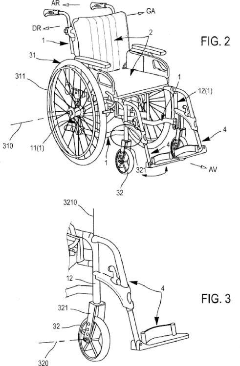 Silla de ruedas con control de dirección mejorado para personas hemipléjicas.