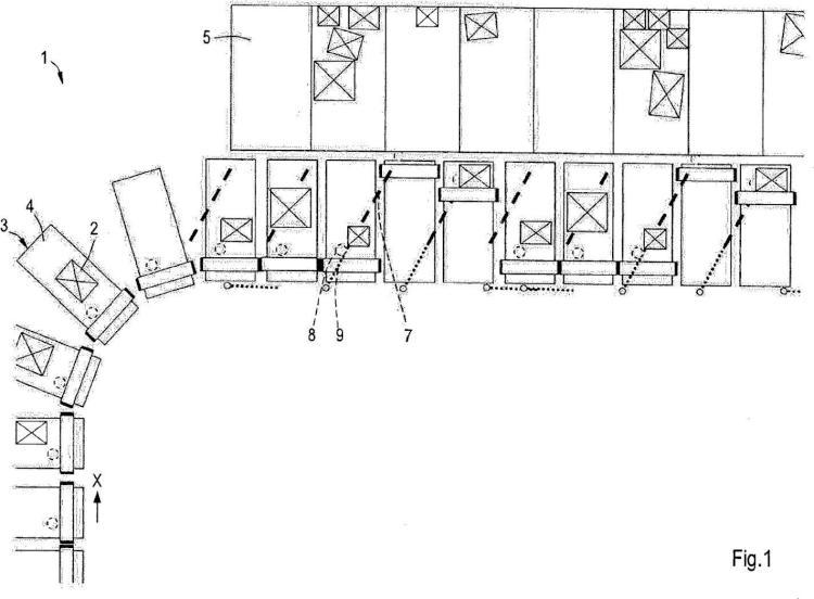 Equipo para el transporte y la descarga controlada de productos.