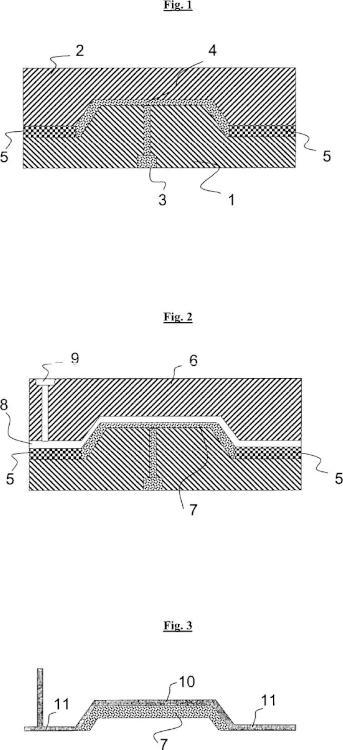 Herramienta y procedimiento para la fabricación de piezas de moldeo de plástico de varias capas.