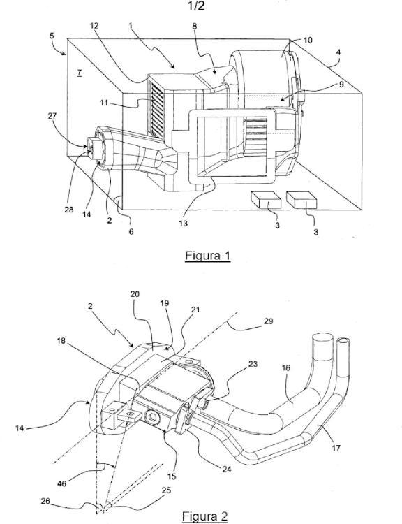 Pieza de acoplamiento entre un dispositivo de expansión y una pared.