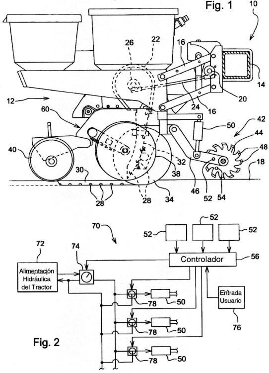 Máquina para trabajar tierra y método de funcionamiento de dicha máquina.