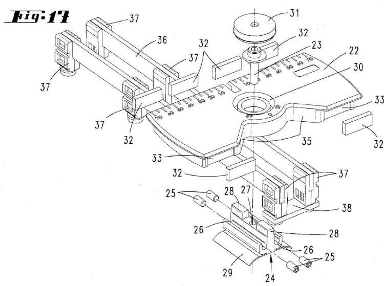 Dispositivo para cortar placas de pavimento laminadas.