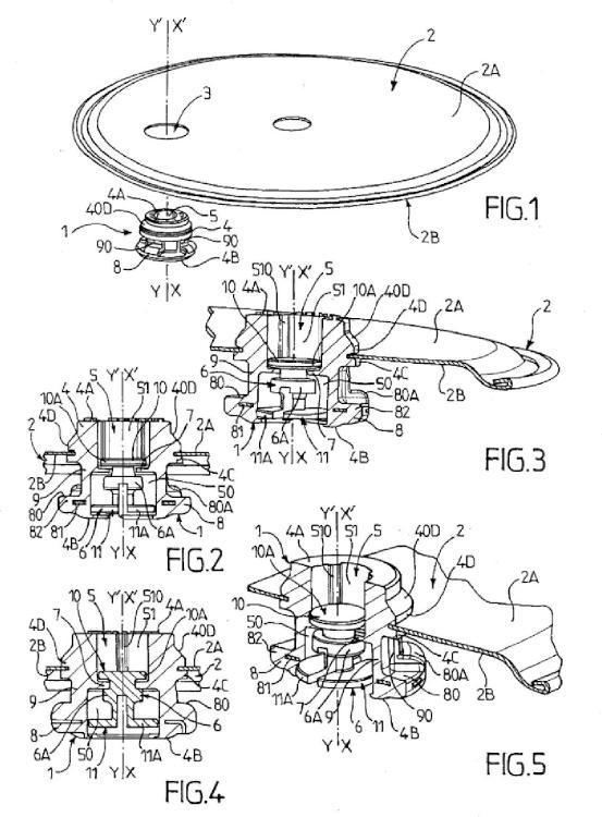 Válvula de seguridad para aparato de cocción a presión y dispositivo que incluye una válvula de este tipo.