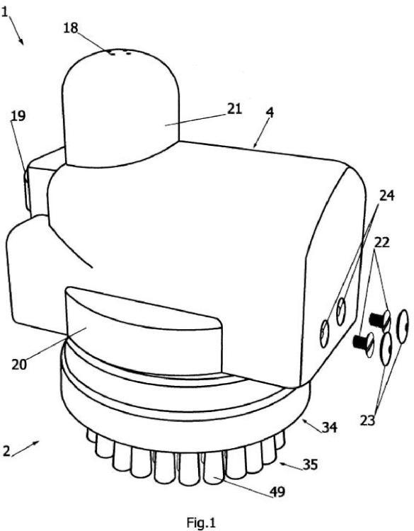 Dispositivo y mecanismo con libertad de movimiento aplicable a la limpieza.