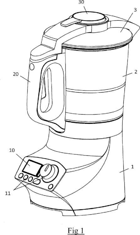 Aparato electrodoméstico de preparación culinaria que incluye un recipiente de trabajo que comprende una resistencia eléctrica.
