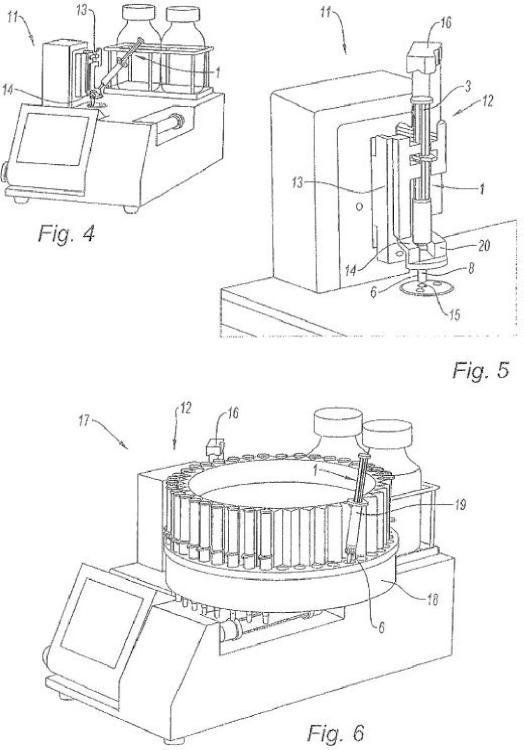 Procedimiento de inyección de una muestra a analizar en el tubo de inyección de una célula de medición, en particular de un densímetro.