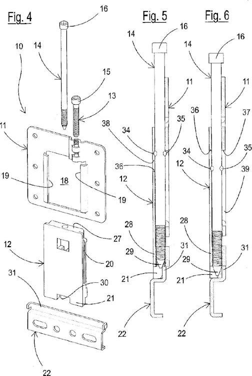 Dispositivo perfeccionado para el montaje en pared de paneles de revestimiento y procedimiento para la producción del mismo.