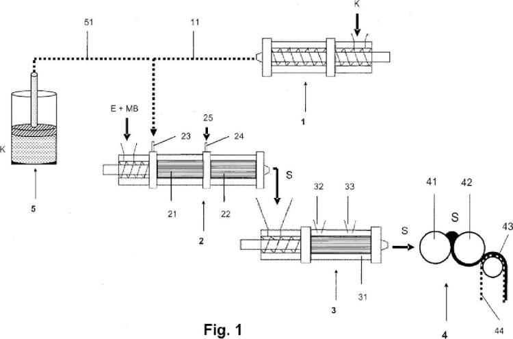 Procedimiento para la fabricación de un sistema de masa espumada.