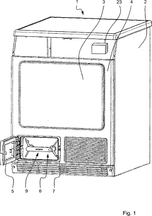 Secadora de ropa con cartucho de filtro.
