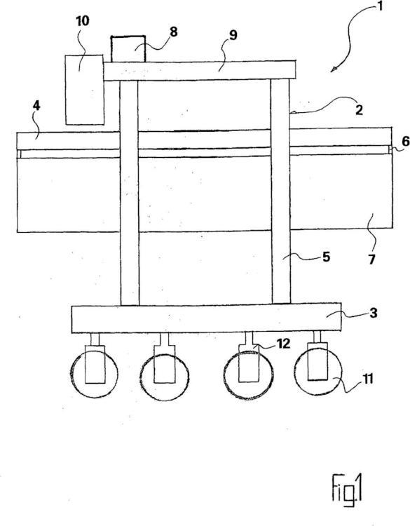 Carro elevador de pórtico para la utilización en terminales de contenedores y para tareas de transporte generales.