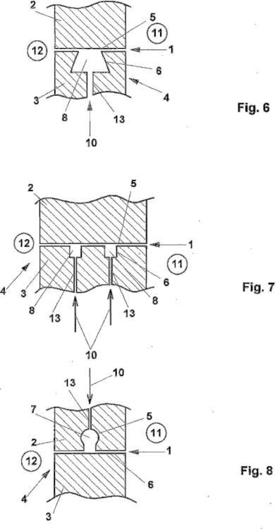 Procedimiento para la fabricación de componentes en una herramienta de moldeo estanca a la presión.