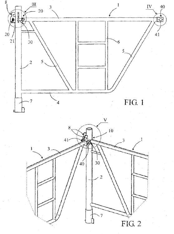 Elemento de construcción, en particular para andamio o similar, provisto de un dispositivo de enclavamiento.