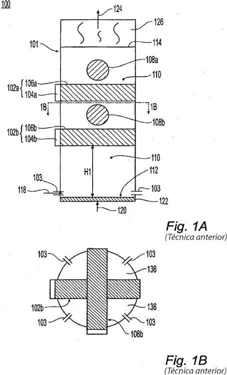 Reactor de lecho fluido que tiene un módulo de transferencia térmica de tipo combustor por impulsos.